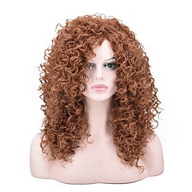 Synthetic Wig Curly Afro Curly Pixie Cut Wig Long Light Brown Synthetic Hair Women's Party Classic Comfortable Light Brown
