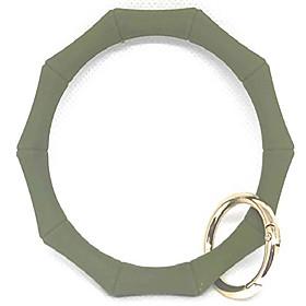 hadley mae designs key ring bracelet keychain wristlet keychain bangle key ring (army green)