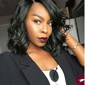 Synthetic Wig Curly Middle Part Wig Short Black Synthetic Hair Women's Exquisite Romantic Fluffy Black