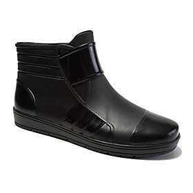 Men's Boots Work Boots Rain Boots Daily Office  Career PVC Non-slipping Wear Proof Black / Yellow / Black Spring / Fall