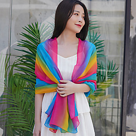Women's Active Rectangle Scarf - Color Block Washable