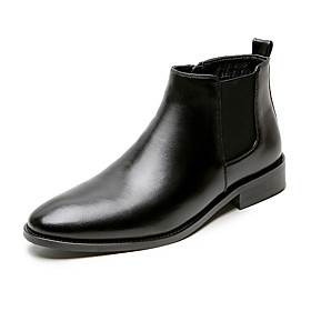 Men's Boots Casual / British Daily PU Non-slipping Booties / Ankle Boots Black / Brown Winter