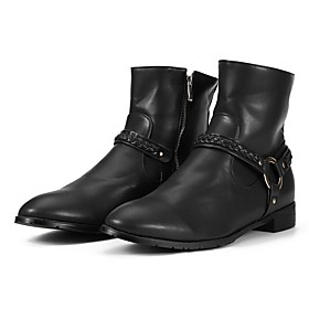 Men's Boots Work Boots Daily PU Non-slipping Dark Brown / Black / Silver Fall