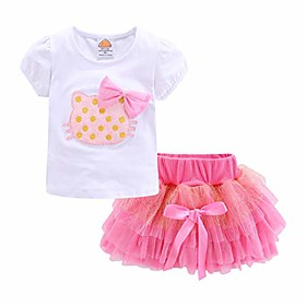 little girl clothes set pink cat summer size 6 Listing Date:09/30/2020