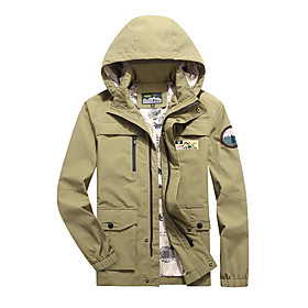 Men's Jacket Regular Solid Colored Daily Basic Blue Army Green Khaki M L XL