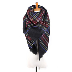 Women's Active Square Scarf - Color Block Washable