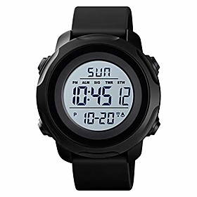 men's digital sports watch military electronic waterproof wrist watches for men with stopwatch alarm led backlight litbwat