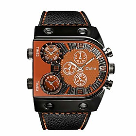 men's steampunk skeleton automatic mechanical alloy stainless steel leather watch litbwat