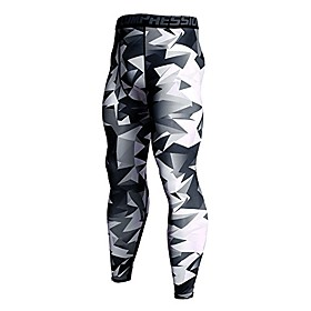 men's 3/4 running compression tights capri pants baselayer cool dry sports tights leggings running youth boy