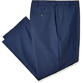 men's big and tall bamp;t 4-way stretch solid gab slim fit suit separate pant, blue, 46wx32l