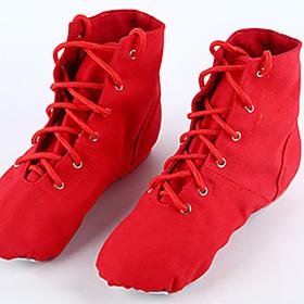 Women's Ballet Shoes Flat Flat Heel Canvas White / Black / Red