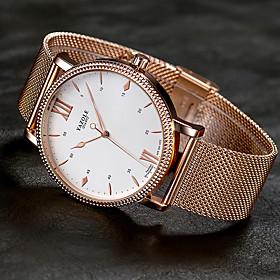 Men's Dress Watch Quartz Stylish Casual Large Dial Analog Gold / One Year / Titanium Alloy