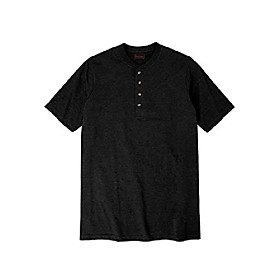 by kingsize menamp; #39;s big amp; tall heavyweight longer-length short-sleeve henley shirt - big - 6xl, heather rich burgundy