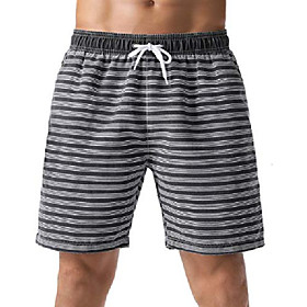 butamp; #39;s board shorts striped relaxed fit soft washed swimming shorts black 34
