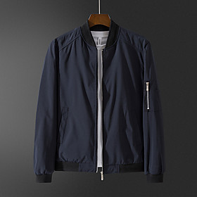 men's jacket-lightweight spring fall outdoor flight bomber coat, royal blue 2xl