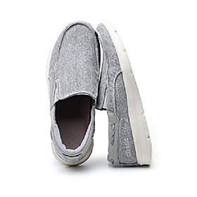 men's casual cloth boat shoes with soft midsole for outdoor daily activities grey