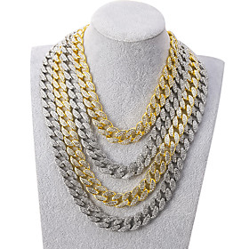 Men's Necklace Cuban Link Friends Hip Hop Alloy Gold Silver 55 cm Necklace Jewelry For Street