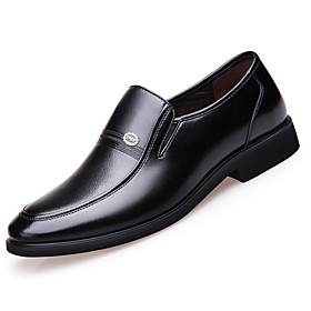 Men's Loafers  Slip-Ons Business / Classic / Casual Daily Office  Career Nappa Leather Breathable Non-slipping Wear Proof Black Spring / Fall / British