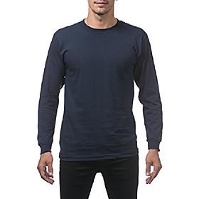 men's comfort cotton long sleeve t-shirt, navy, 4x-large