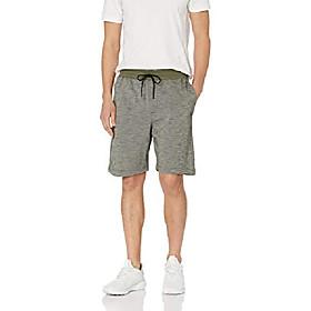 butamp; #39;s elastic waist valley gym sweat shorts, cargo khaki, l