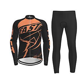 Men's Long Sleeve Cycling Jersey Black / Yellow Purple Red Novelty Bike Jersey Top Mountain Bike MTB Road Bike Cycling Quick Dry Sports Clothing Apparel / Micr