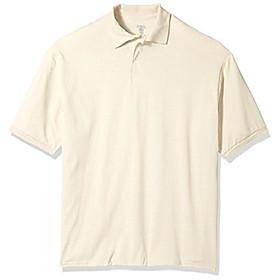 butamp; #39;s spot shield short sleeve polo sport shirt, sandstone, medium