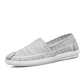 Men's Loafers  Slip-Ons Classic / Casual Daily Office  Career Canvas Breathable Non-slipping Wear Proof Dark Grey / Blue / Gray Spring / Fall