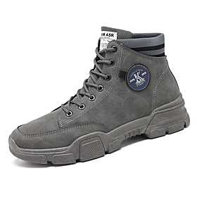 Men's Boots Classic / Vintage / British Outdoor Office  Career Pigskin Non-slipping Wear Proof Black / Beige / Gray Fall / Winter