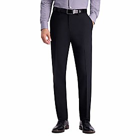men's active series stretch slim fit suit separate pant, black, 33wx30l