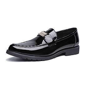 Men's Loafers  Slip-Ons Casual Daily PU Breathable Non-slipping Wear Proof Black Spring / Fall