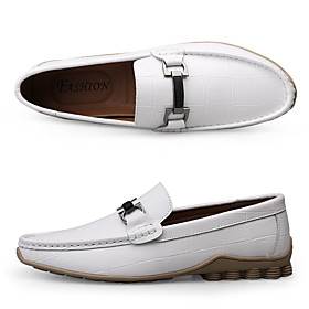 Men's Loafers  Slip-Ons Business / Classic / Casual Daily Office  Career Walking Shoes Sheepskin Breathable Non-slipping Wear Proof White / Black / Blue Spring