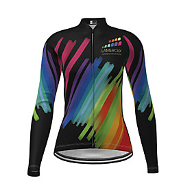 Women's Long Sleeve Cycling Jersey Black Novelty Bike Jersey Top Mountain Bike MTB Road Bike Cycling Quick Dry Sports Clothing Apparel / Micro-elastic