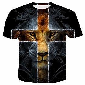 t-shirts unisexes décontractés cool 3d lions chemises de mode d'été-lion_3-xl date d'inscription:09/28/2020