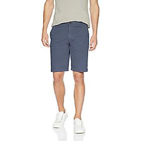 amazon brand - menamp; #39;s slim-fit 11 inseam flat-front comfort stretch chino shorts, -navy, 33