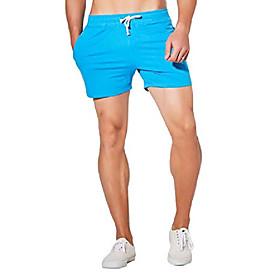 men's joggers sweat gym running workout athletic shorts lounge shorts-blue, large (30 waist)