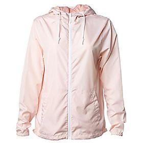men's lightweight windbreaker winter jacket water resistant shell (blush, small)