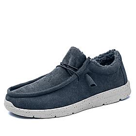 Men's Loafers  Slip-Ons Vintage / British Daily Outdoor Elastic Fabric Warm Non-slipping Dark Grey / Light Brown / Dark Brown Fall / Winter