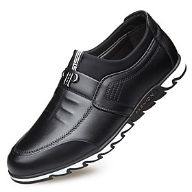 Men's Loafers  Slip-Ons Casual Daily Leather Wear Proof Black / Blue / Brown Fall / Winter