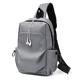 Men's Bags Polyester Sling Shoulder Bag Zipper for Daily / Going out Black / Army Green / Dark Blue / Gray