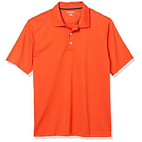 butamp; #39;s regular-fit quick-dry golf polo shirt, -orange, x-small