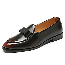 men's brown casual slip-on loafers modern classic dress wedding shoes size 11