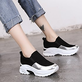 Women's Trainers / Athletic Shoes Flat Heel Round Toe Casual Daily Outdoor Faux Leather White / Black / Green