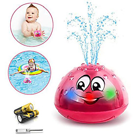 baby bath toys, spray water toy with led light bathtub toys, sprinkler bath toys for toddlers 1-3 years (red) Package Dimensions:10.810.77.8; Listing Date:09/19/2020