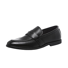 Men's Loafers  Slip-Ons Business Daily PU Wear Proof Black / Brown Spring / Fall
