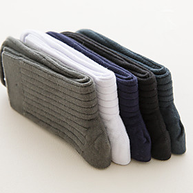 Men's Warm Socks - Solid Colored White Black Red One-Size