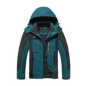 Men's Hunting Jacket Wind Jacket Hiking Jacket Winter Outdoor Solid Color Thermal Warm Waterproof Windproof Breathable Jacket Windbreaker Winter Jacket Single