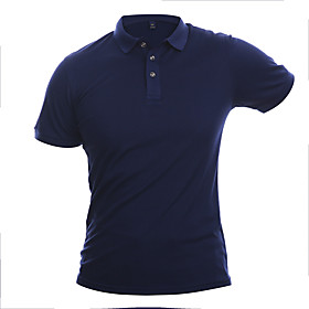 Men's Ceremony Polo Solid Color Tops Sapphire Navy Grass Green / Summer