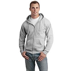 comfortblend ecosmart full zip hoodie, large