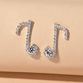 Women's Stud Earrings Geometrical Cute Earrings Jewelry Silver For Date Birthday