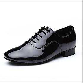 Men's Dance Shoes Dance Sneakers / Ballroom Shoes / Line Dance Full Sole Chunky Heel Customizable White / Black / Indoor / EU39